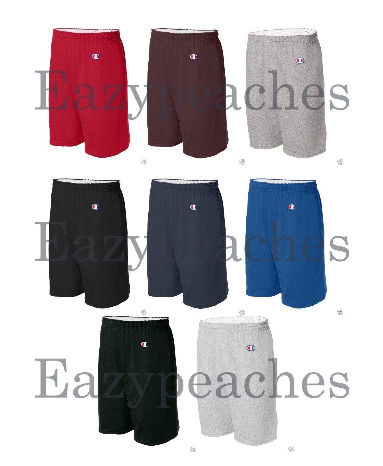 "Champion Mens S-XL, 2X 3XL Athletic Cotton Gym Shorts 6"" Ins"