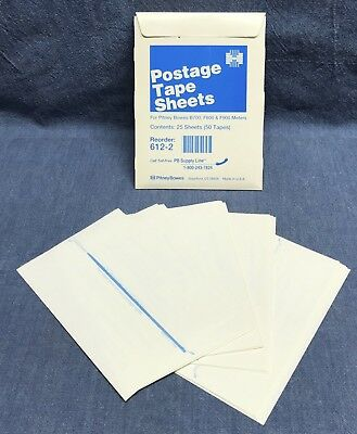 Qty 25 Sheets 612-2 Pitney Bowes Postage Tape Sheets B700f800f900 Meter