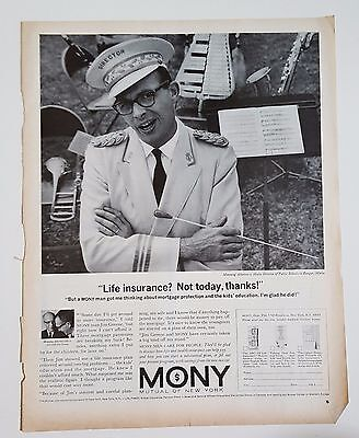 Vintage Advertisement 1964 Post Mony Mutual Of New York Life Health Insurance