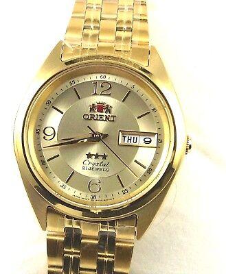 New Reloj  Orient  Men's 3 Star Standard Gold Tone  Automatic Watch FAB0000CC