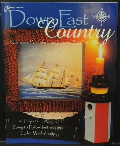 DOWN EAST COUNTRY by Geri Tilley - A Tole Painting Book