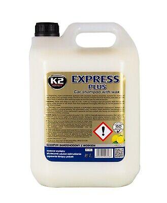 K2 Express Plus Shampoo Autoshampoo mit Wachs Auto Wäsche Reinigung 5 L Liter
