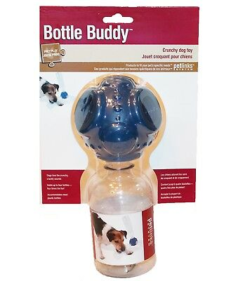 (NEW Petlinks Water Bottle Buddy Dog Puppy Rubber Toy Crunchy Holds 4 Bottles)