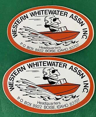 2 Western Whitewater Assn,  Decals Stickers, River Boats, Fishing, Boise Idaho for sale  Meridian
