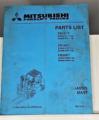 Mitsubishi Forklift Trucks Fb16kt Fb18kt Fb20kt Parts List Manual Chassis Mast