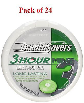 Breath Savers 3 Hour Spearmint, 1.27-Ounce Tins (Pack of 24)