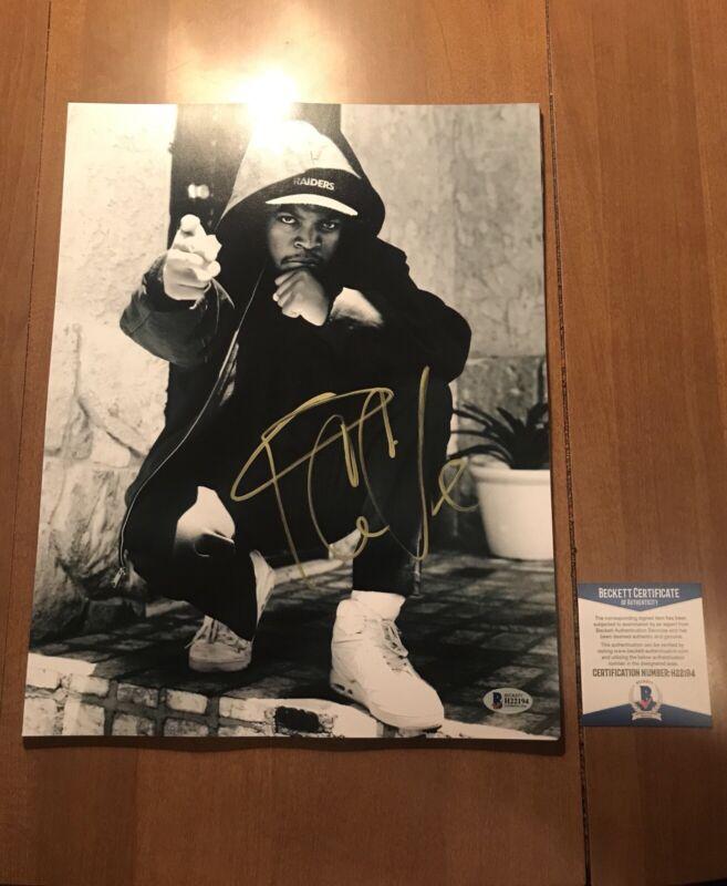 Ice Cube auto signed 11x14 photo coa BAS beckett NWA Straight Outta Compton