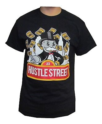 NEW MONOPOLY HUSTLE STREET SCREEN PRINTED SHORT SLEEVE T- SHIRT 100% COTTON