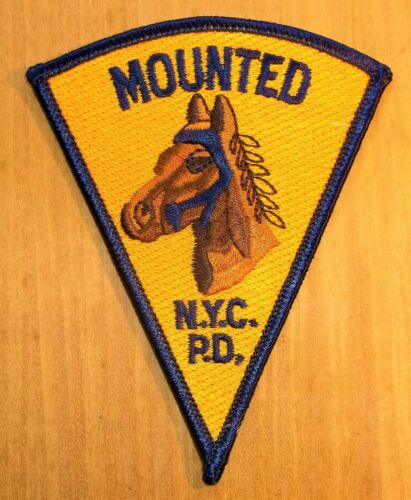 GEMSCO NOS NYPD Patch POLICE MOUNTED HORSE UNIT NYPD Original 35+ - tri point V5