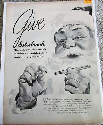 1950's Esterbrook Pens Santa Christmas ad