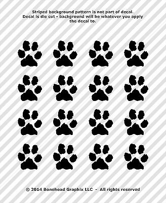 Paw Print Decals (Paw Print Decals Vinyl Window Tablet Dog Cat Pet Rescue 1 in -)