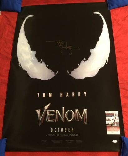 VENOM AUTHENTIC STUDIO 27x40 TEASER #1 MOVIE POSTER~SIGNED BY TODD McFARLANE+JSA