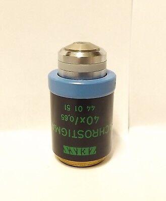 Zeiss Achrostigmat 40x Ph2 Phase Contrast Infinity Microscope Objective Lens Rms