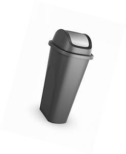 11 Gallon Plastic Trash Can Garbage Waste Bin Kitchen Slim SWING Lid ...