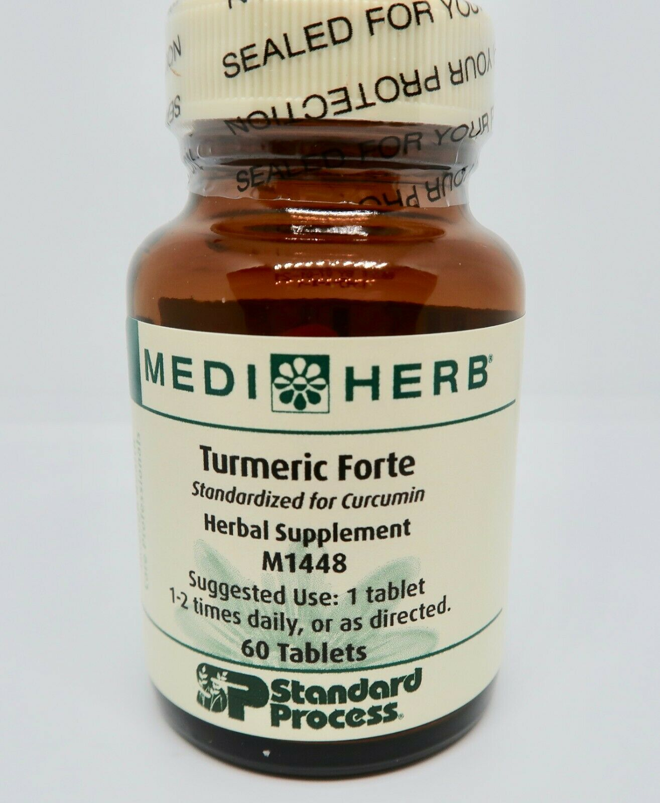 MediHerb Turmeric Forte M1448 60 Tablets Standard Process EXP02/21 NO BOX