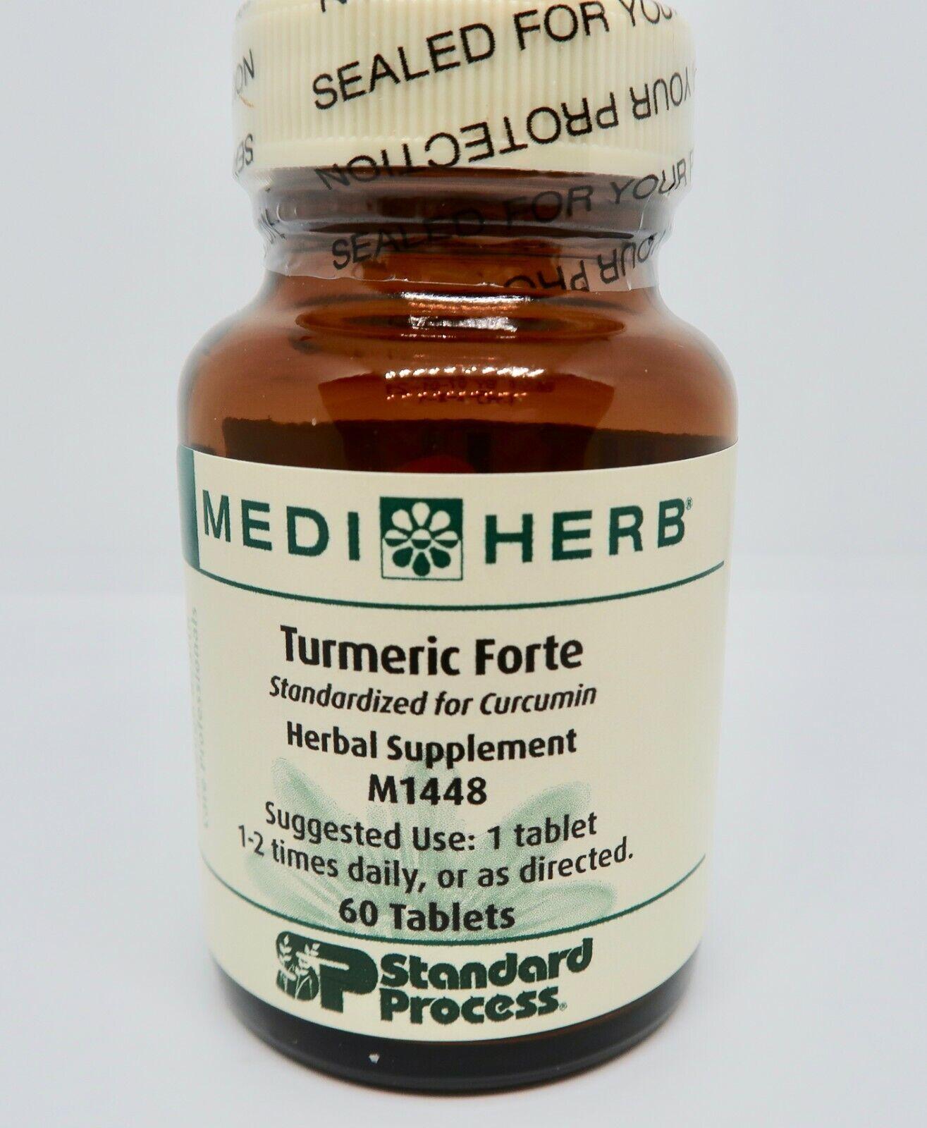MediHerb Turmeric Forte M1448 60 Tablets Standard Process EXP02/21 NO BOX