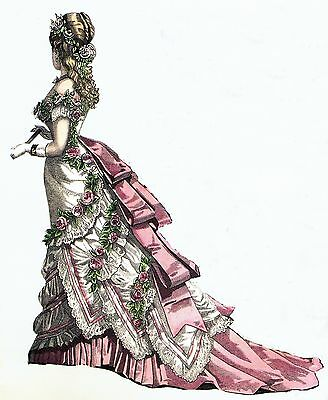 """1876 Evining Gown Sewing Pattern for a 24"""" Doll Lady Marion & Other Dolls #92-24"""