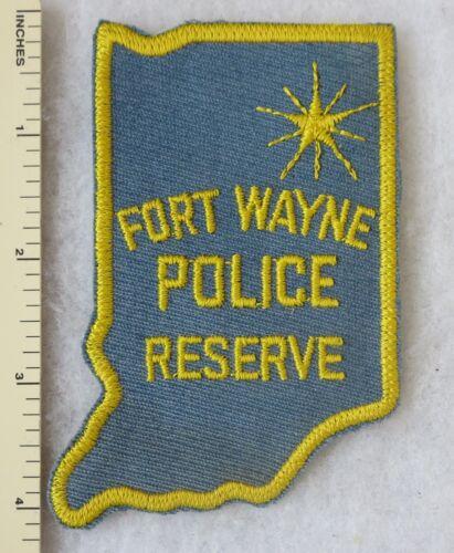FORT WAYNE INDIANA  POLICE RESERVE PATCH Cut Edge OLDER Vintage ORIGINAL