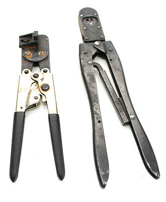 Qty 2 Crimpers Te Connectivity Amp 90312-1 And 90099 Crimper Tool Tyco