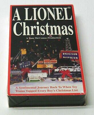 A LIONEL CHRISTMAS 1995 VHS NEW SEALED FAST TM Books Train Set Video Tom McComas