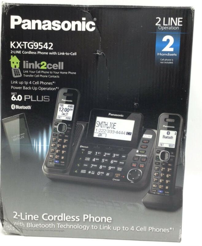 Panasonic KX-TG9542B 2-LINE CORDLESS PHONE SYSTEM