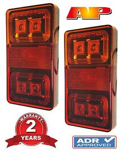 2 x 12V SUBMERSIBLE LED TRAILER LIGHTS (TAIL, BRAKE, INDICATOR, BOAT, LIGHT)