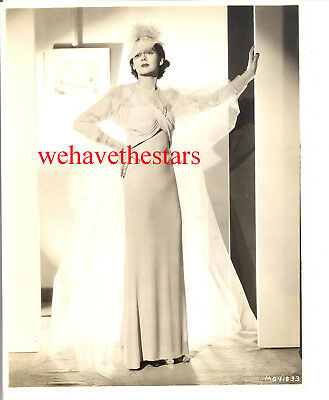 Vintage Rosalind Russell GLAMOUR FASHION 30s MGM ADRIAN? Publicity Portrait