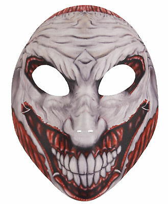 Unheimlich Joker Gesichtsmaske - Halloween Kostüm Erwachsene Accessoire Trick