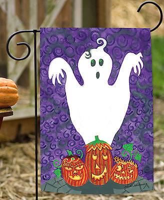 Toland Halloween Buddies 12.5 x 18 Spooky Ghost Pumpkin Gourd Garden Flag](Gourd Halloween Ghost)