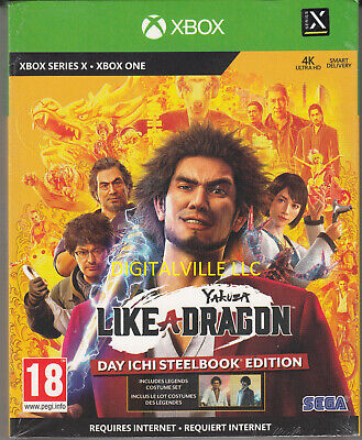 Yakuza Like a Dragon Day Ichi Steelbook Edition Xbox One Brand New FactorySealed