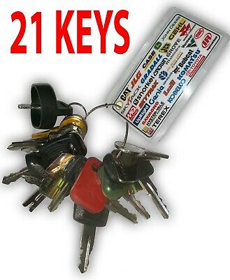 Heavy Equipment Machines Construction Equipment Master Ignition 21 Key Set Bonus