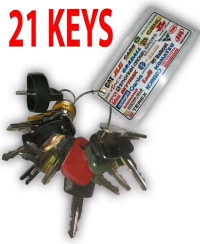 Heavy Equipment Machines Construction Equipment master Ignition 21 Keys Key Set