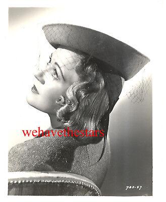 Vintage Shirley Grey GLAMOUR HAT FASHION 30s Publicity Portrait