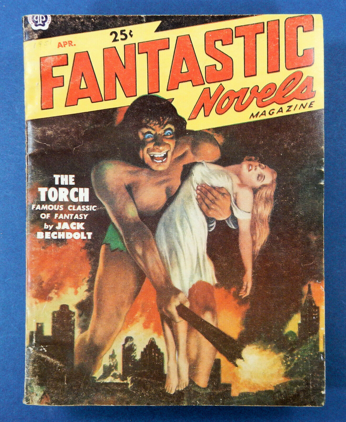 Fantastic Novels Magazine / April 1951 / Sci Fi Pulp / Lawrence Front Cover - $6.50