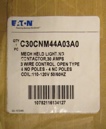 EATON CUTLER HAMMER C30CNM44A03A0 Mechanically Held Lighting Contactor