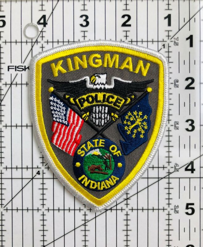 """Kingman State of Indiana Police Patch 4"""" x 3.25"""""""