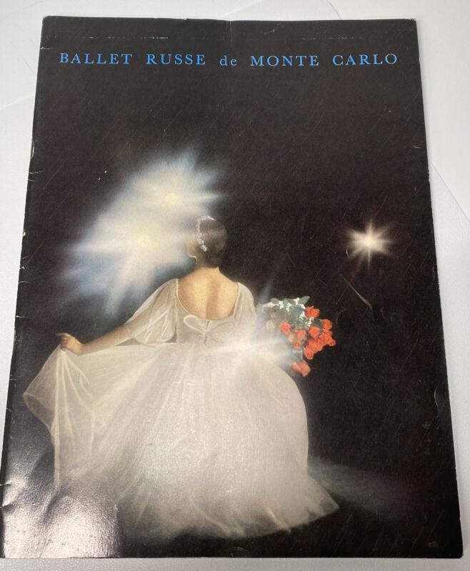 Vintage 1958 Ballet Russe de Monte Carlo American Tour Program Nina Novak