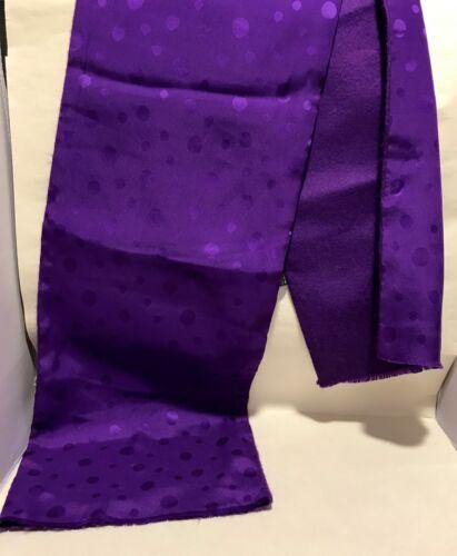 Weavers Workshop 100% Silk Faced Purple Polka Dot Scarf