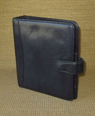 Classic Franklin Covey Black Leather 1.5 Rings Open Plannerbinder