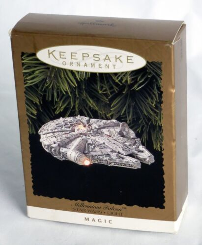 Hallmark Millennium Falcon *NEW / UNUSED* 1996 Star Wars Keepsake Ornament