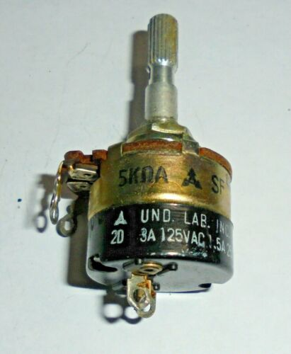 Vintage Panasonic 5k Potentiometer  with Snap switch Tested