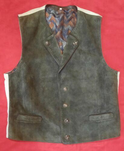 Trachten Leather Vest Karl klüber Lederhosen Tracht, Size 56