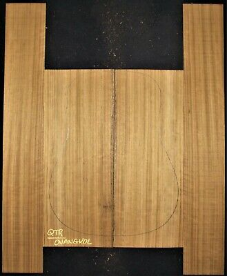 Guitar Luthier Tonewood FIGURED OVANGKOL Acoustic backs sides SET back and sides