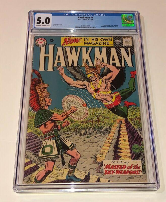 HAWKMAN #1 ~ Original series from 1964 DC ~ CGC 5.0 great looking copy!
