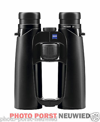 Zeiss Binoculars Victory SF 8x42 Black + Zeiss kreuztrageriemen + Cleaning Kit