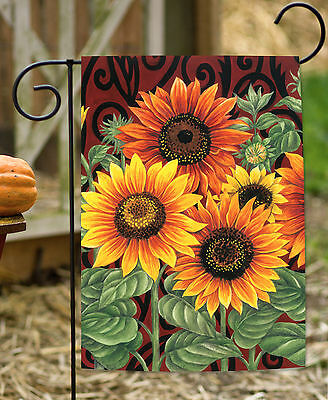Toland Sunflower Medley 12.5 x 18 Autumn Fall Flower Garden Flag