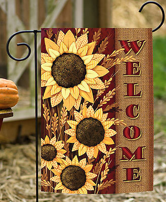 - Toland Welcome Sunflowers 12.5 x 18 Colorful Flower Fall Autumn Garden Flag