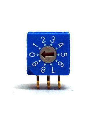 5pc Right Angle Rotary Dip Switch Bcd Code Rr30012 09 Scale Hampolt Taiwan