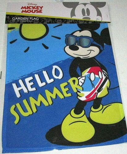 """DISNEY GARDEN FLAG 12.5""""x 18""""  HELLO SUMMER/MICKEY MOUSE"""