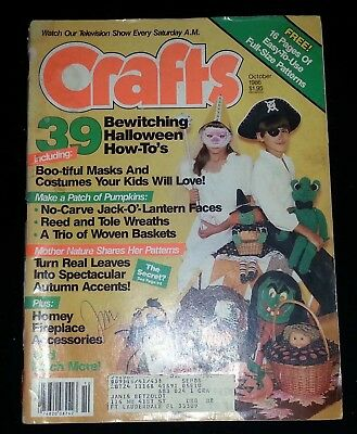 October Halloween Crafts (Crafts Magazine - October 1986 39 Bewitching Halloween)